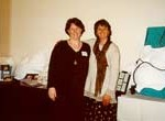 Kim and Pam England at the 2001 Regional Childbirth Educators Conference, Tacoma, WA.